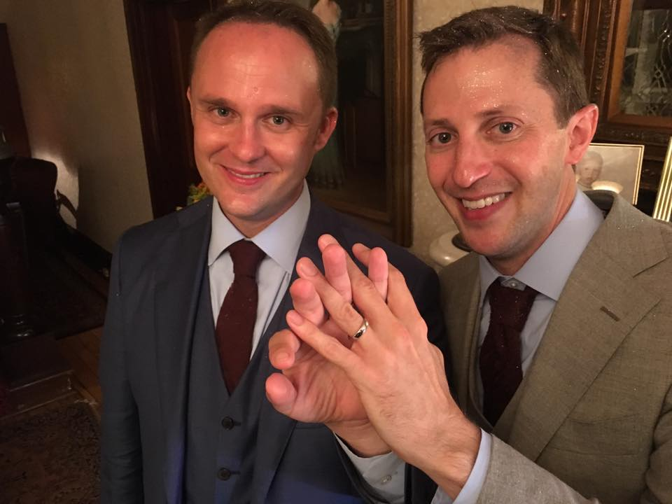 Grooms Brett Zongker and Brian Westley's wedding was saved by a podcast. Really!