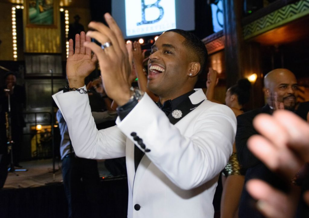 Bronzeville star and producer Larenz Tate at the audio series' swank launch party.