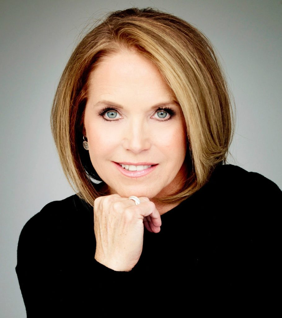 "Katie Couric, host of the eponymous podcast, Katie Couric, is pretty much over you calling her ""perky."""