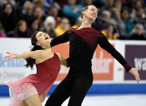 Madison Chock and Evan Bates competing in St Paul, Minnesota in 2016.